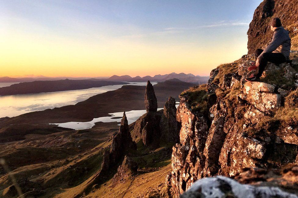 Attached is a photo I took up at The Old Man of Storr, Isle of Skye yesterday morning. Set off from home at 6am and was at my vantage point at 7am watching the colours change. Not a soul in sight!