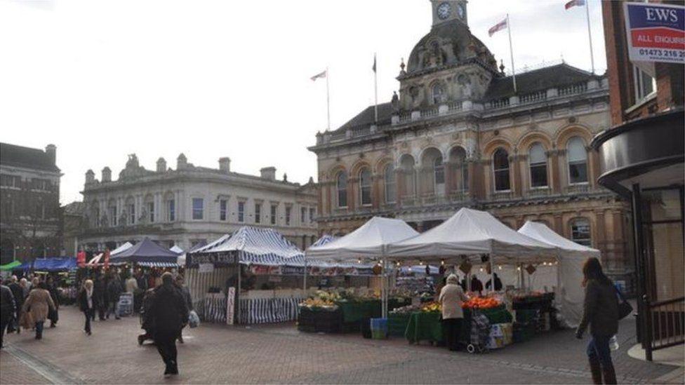 Ipswich Cornhill market