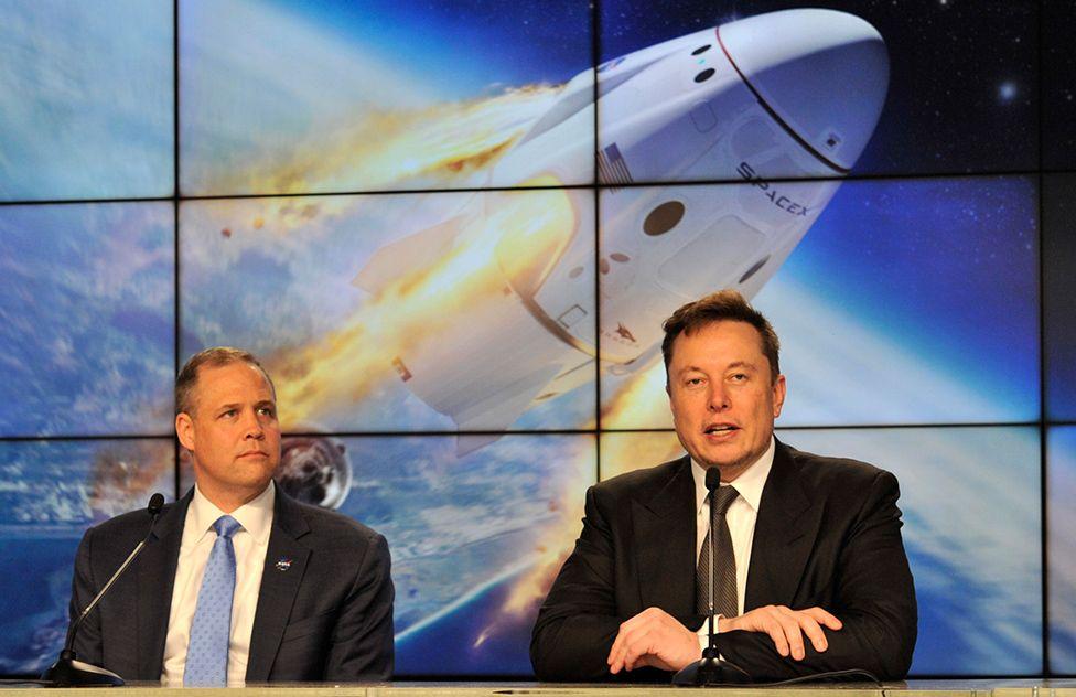 Jim Bridenstein and Elon Musk