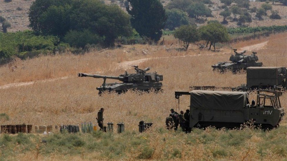 Israeli forces on border with Lebanon (27/07/20)