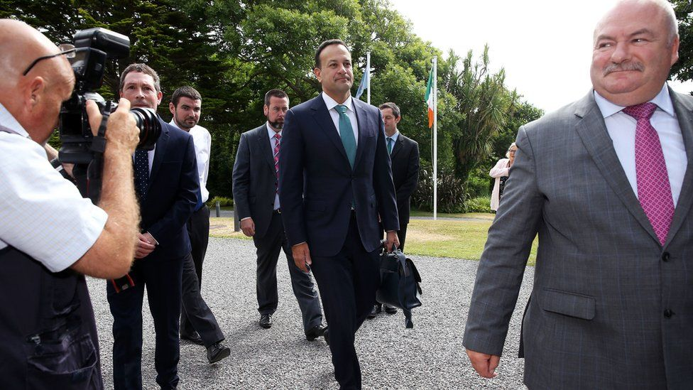 An Taoiseach Leo Varadkar arriving at Derrynane House, Kerry, for a government cabinet meeting