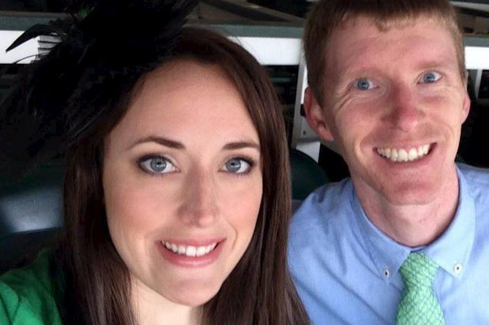 Justin Blake Shults and his wife Stephanie Michele Moore Shults (Facebook photo)