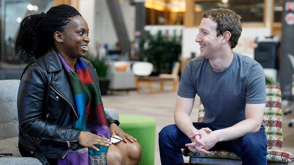 Lola Omolola and Mark Zuckerberg