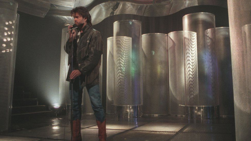 George Michael singing A Different Corner on Top of the Pops