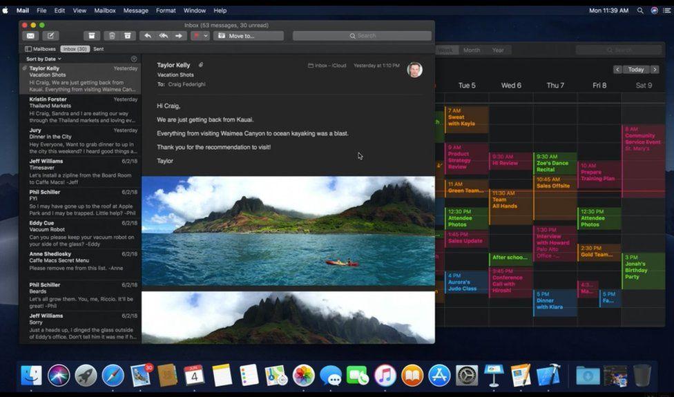 Apple Mac dark mode