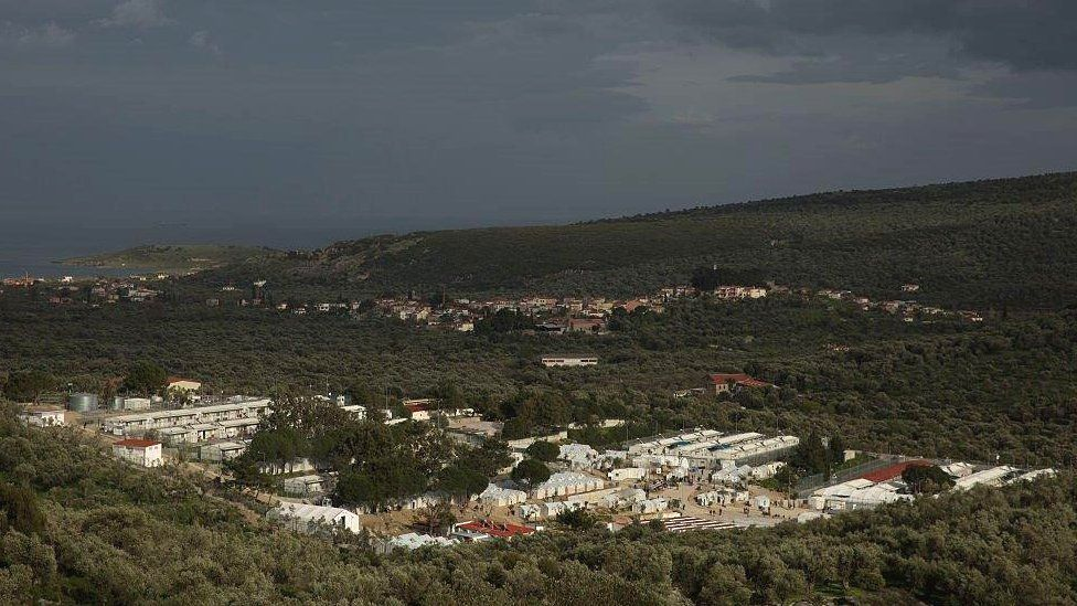 Moria Refugee Camp on Greek island of Lesbos