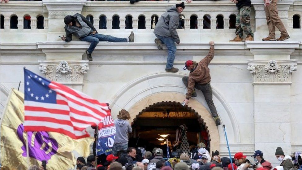 A mob loyal former US President Donald storm the Congress building in Washington DC
