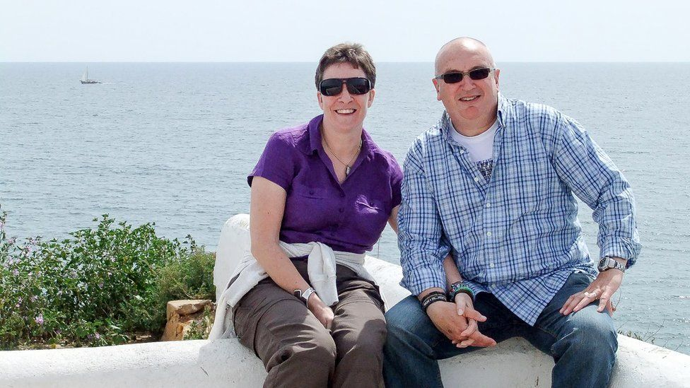 Image shows Alyson Sheldrake and her husband, David
