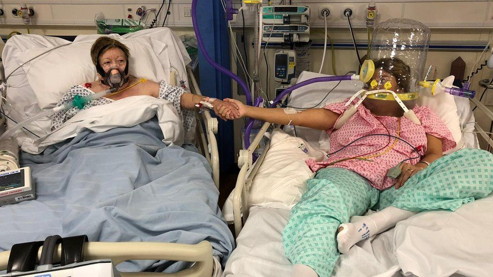Maria and Anabel in hospital