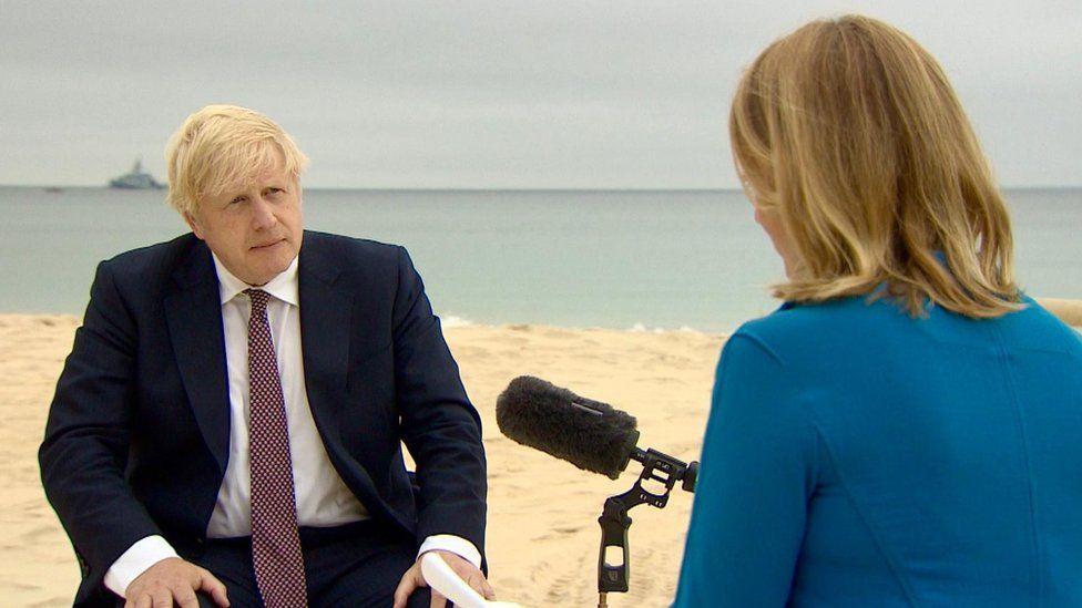 Boris Johnson and Laura Kuenssberg
