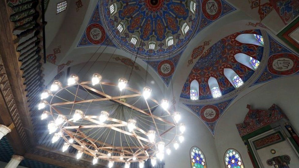 The interior of the Ferhat Pasha mosque in Banja Luka (30 April 2016)