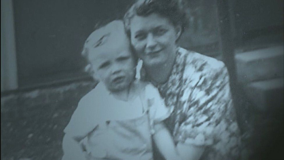 Ian McLean with his adopted mother