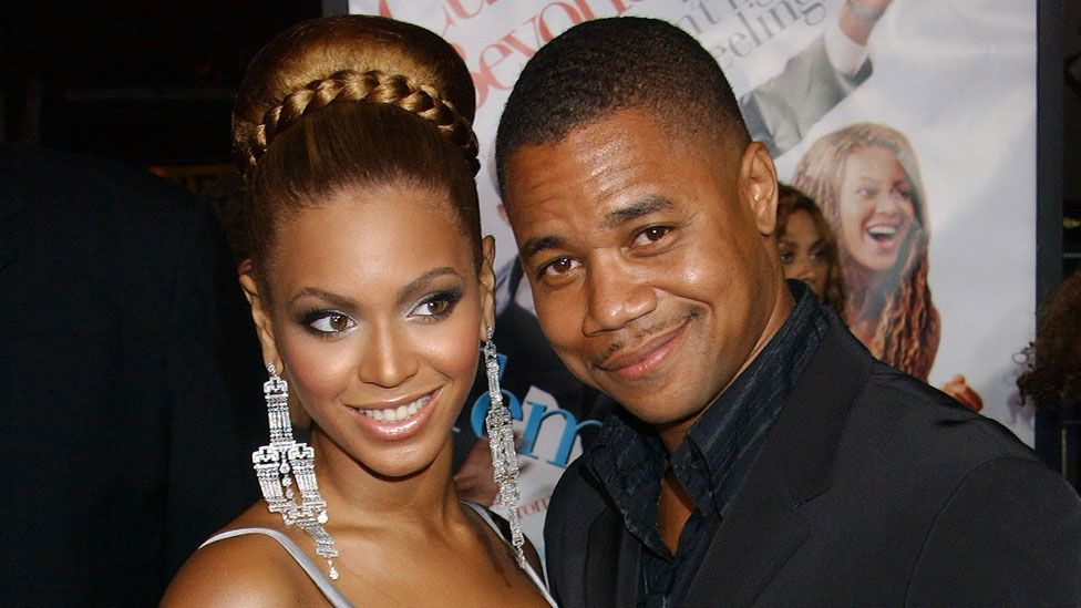Beyonce with Cuba Gooding Jr