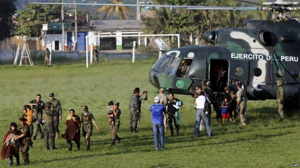 Sendero Luminoso hostages rescued by the Peruvian army