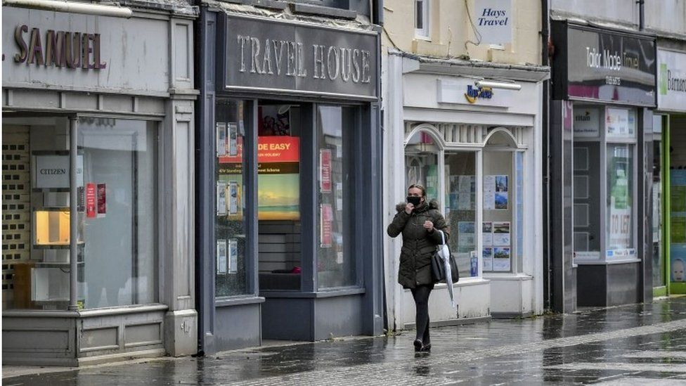 Rainy deserted street