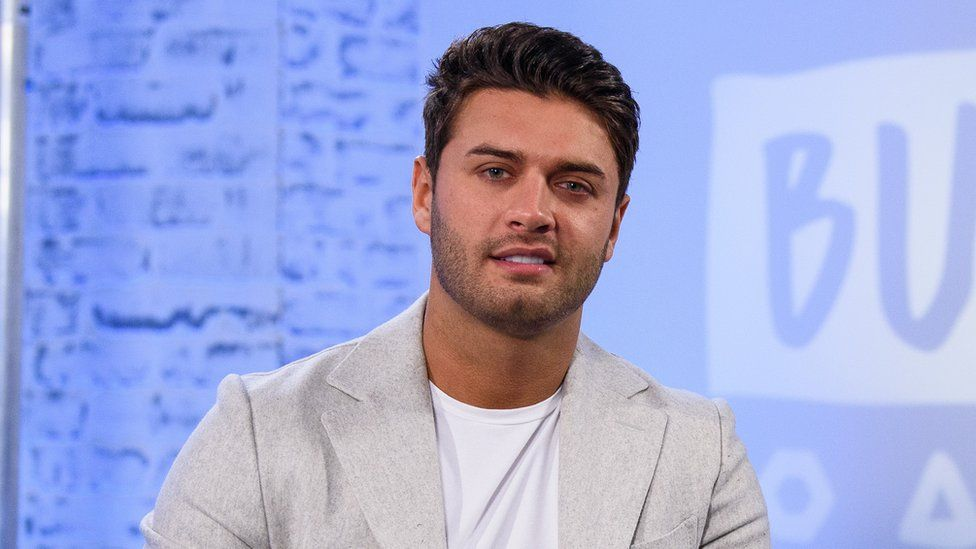 Mike Thalassitis, who was on Love Island in 2017, during a panel discussion in February 2018