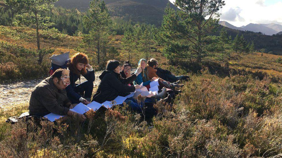 Illuminating the Wilderness found Project Art Works on location in Glen Affric, Scotland