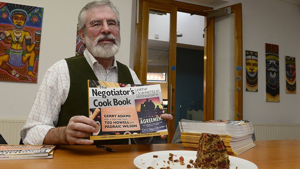 Gerry Adams launching his cookbook
