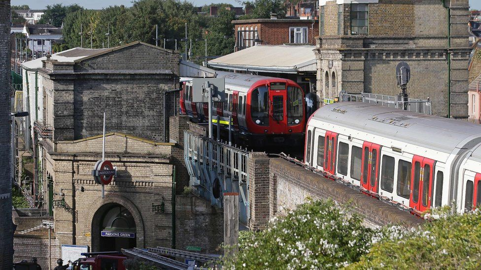 District Line trains halted at Parsons Green