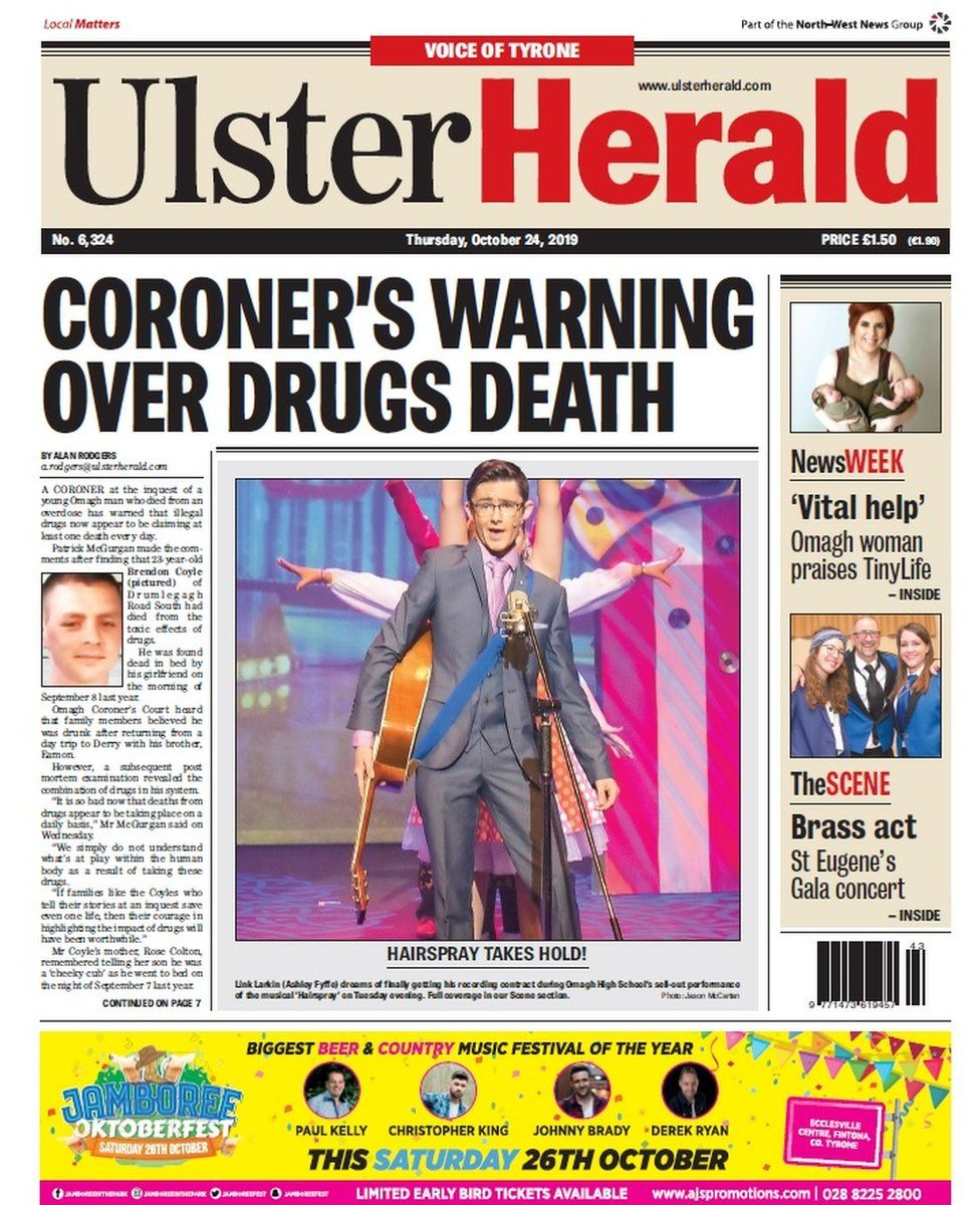 Ulster Herald front page