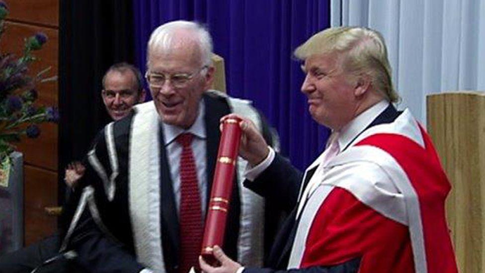 Donald Trump receives award