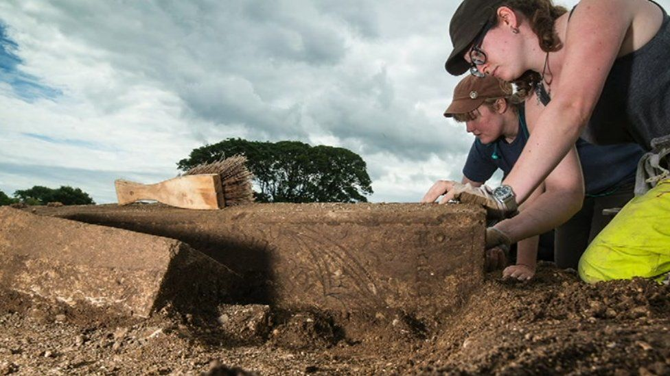 University of Sheffield archaeologists at Thornton Abbey in Lincolnshire
