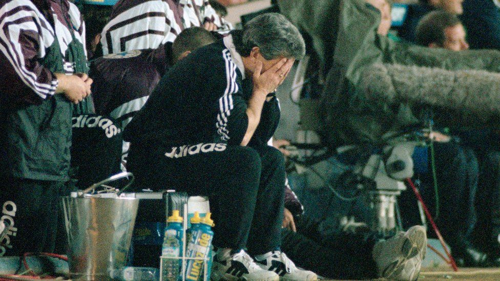Kevin Keegan at Leeds in 1996