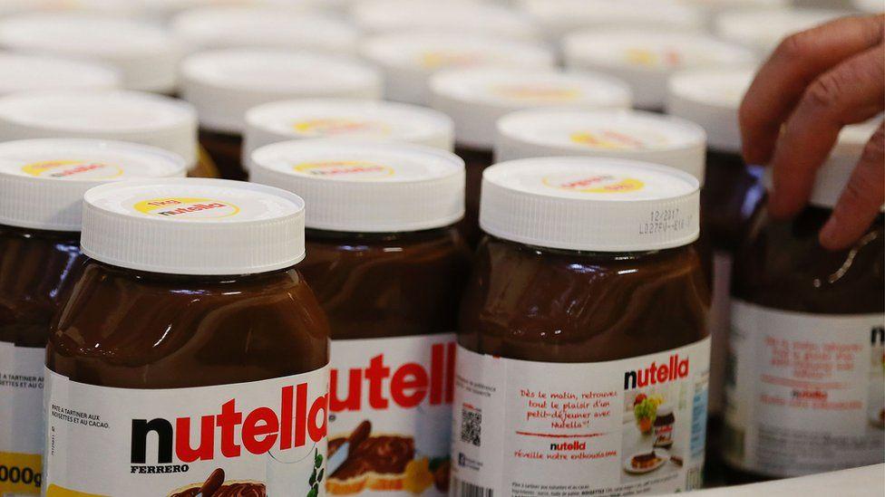 Pots of Nutella - file pic