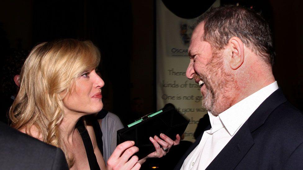 Kate Winslet with Harvey Weinstein in 2009