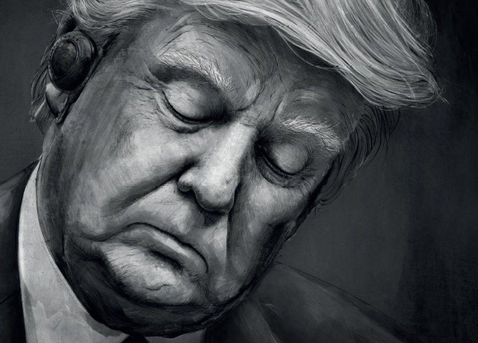 A Fritz-Kola poster featuring Donald Trump