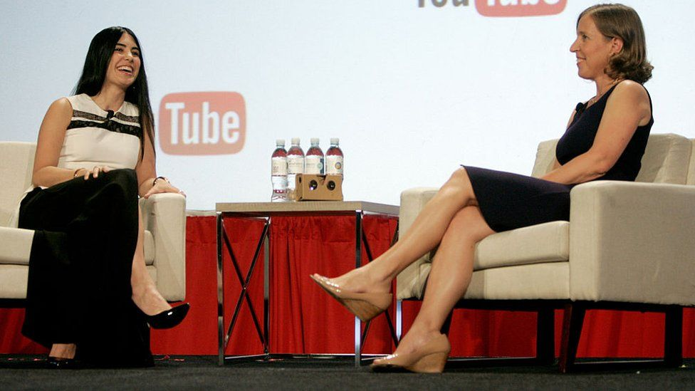 Shahrzad Rafati and Susan Wojcicki,