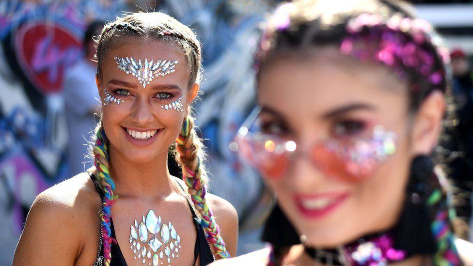 Revellers at carnival