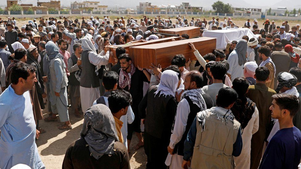 A funeral is held in Kabul