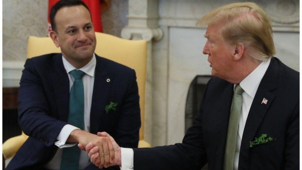 Taoiseach (Irish prime minister) Leo Varadkar and US president Donald Trump met at the White House