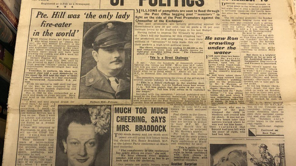 An article in the Daily Mirror in 1949