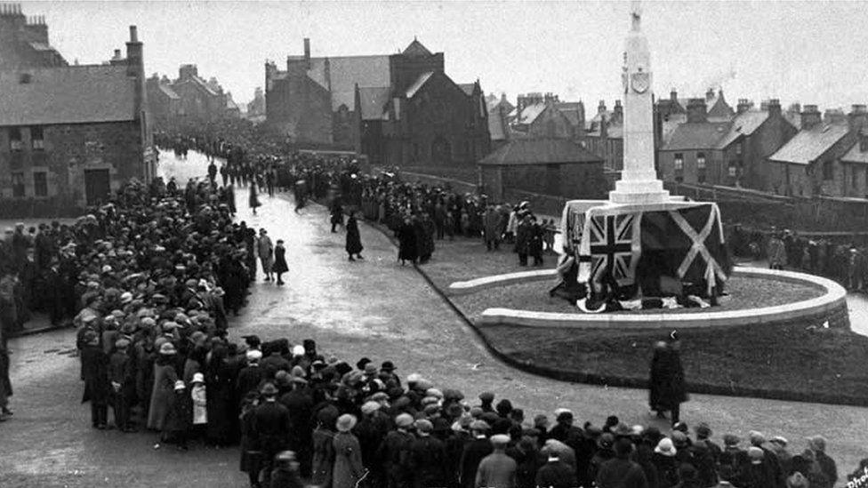 War Memorial in Lerwick, 1924