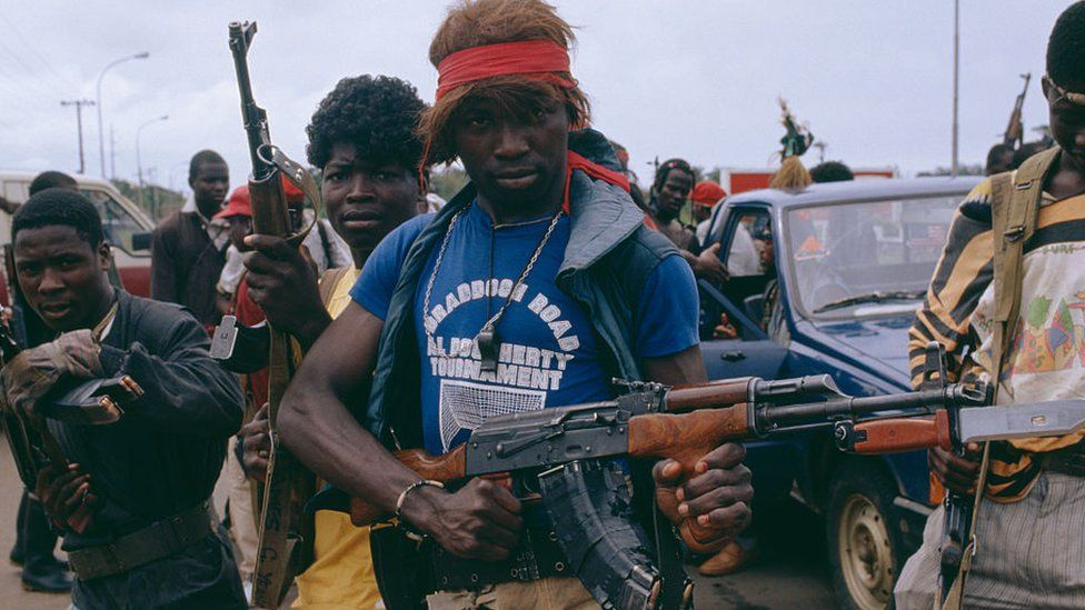 Liberian rebel fighters
