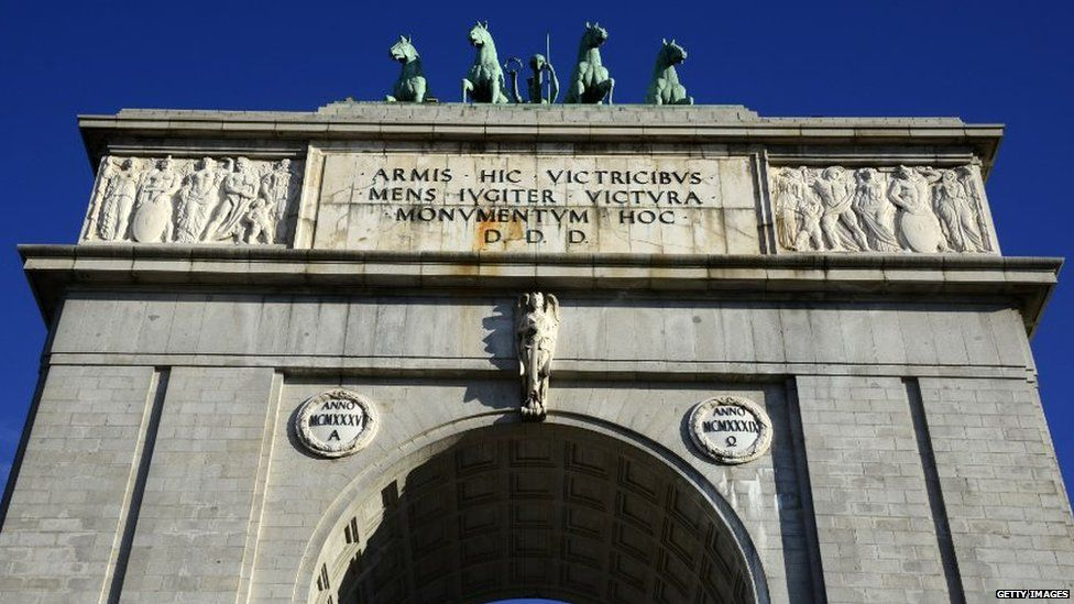 Franco had the Arco de la Victoria erected as a tribute to his Nationalist army's victory over Republicans