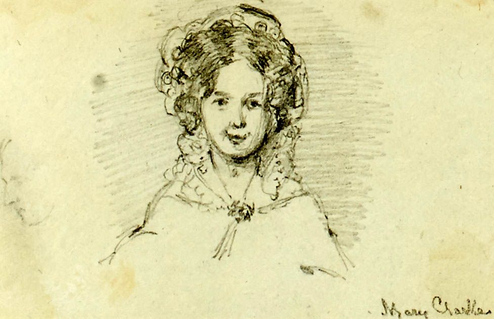 Sketch of Mary Clarke Mohl by Hilary Bonham Carter