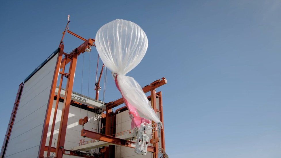 The balloons destined for Peru were launched in Puerto Rico