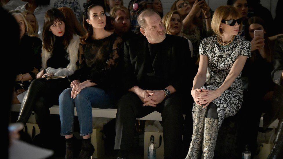 Mandy Moore, Harvey Weinstein, and Anna Wintour
