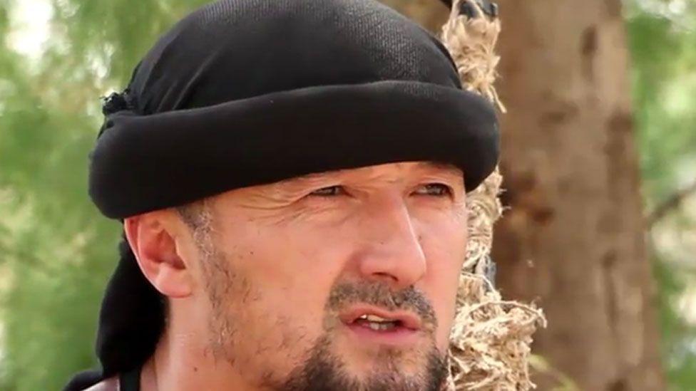 Gulmurod Khalimov, screen grab from Furat video