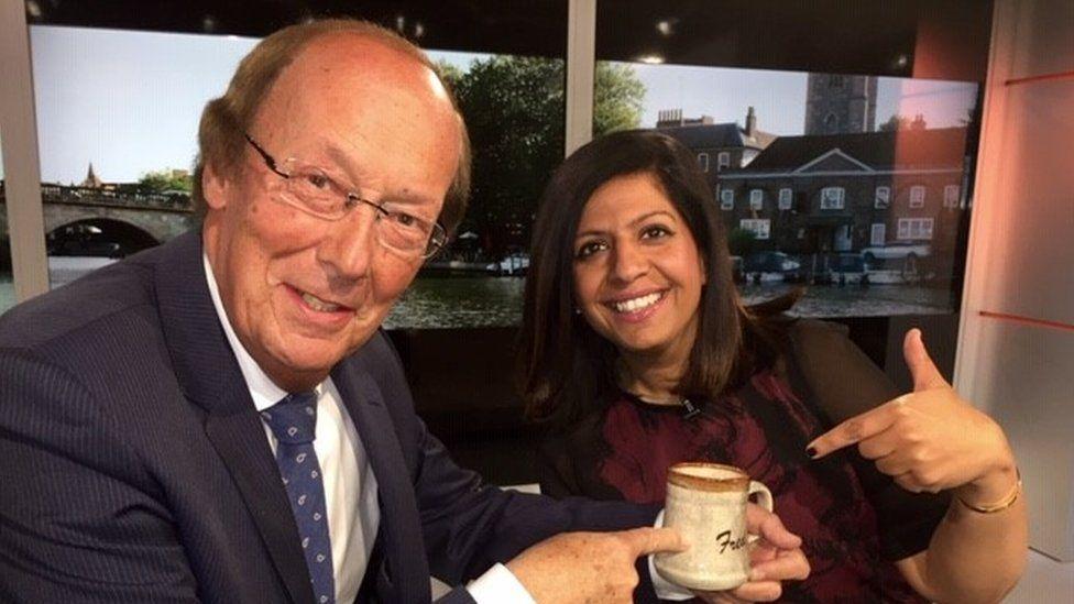 Fred Dinenage and Sangeeta Bhabra