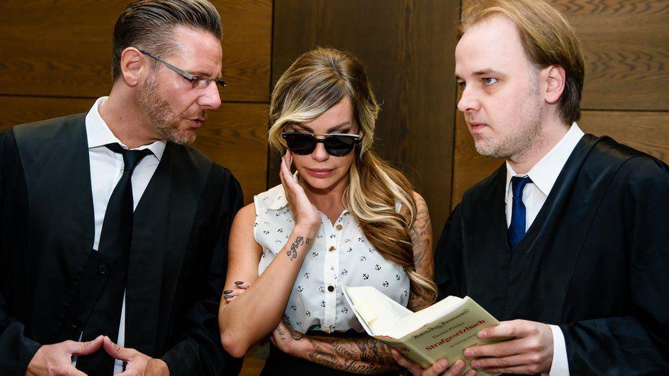 Gina-Lisa Lohfink attends trial in Berlin in June