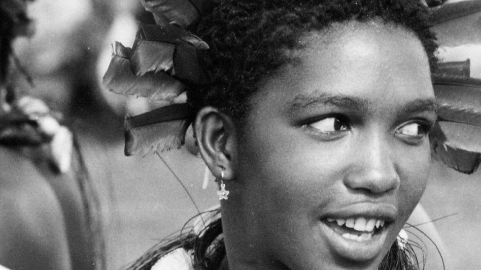 Queen Mantfombi MaDlamini Zulu pictured in about 1973 when she was a princess of Swaziland, now known as Eswatini