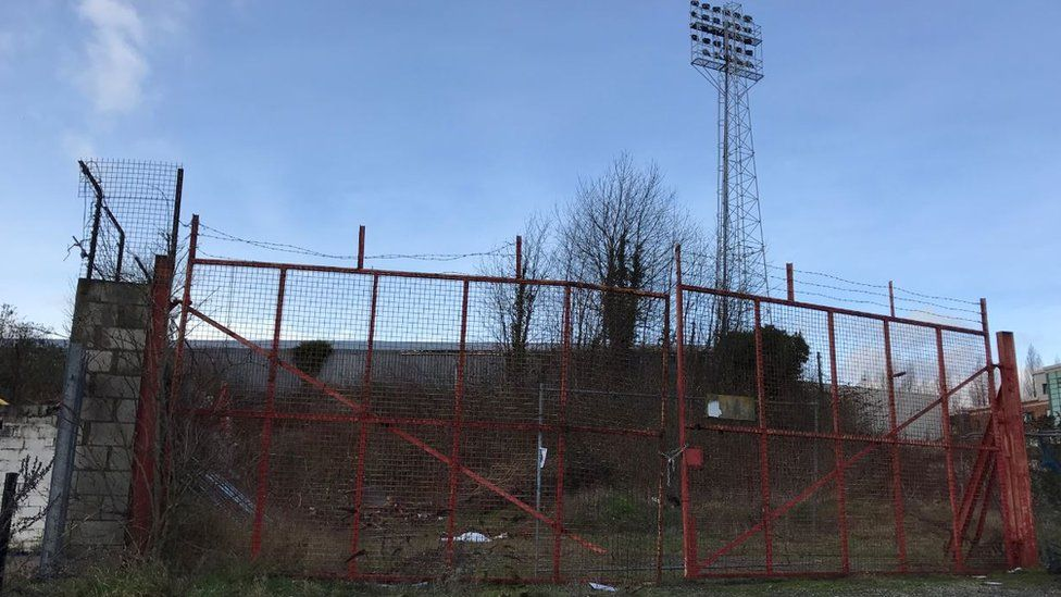 The Kop at the Racecourse was declared unsafe to use
