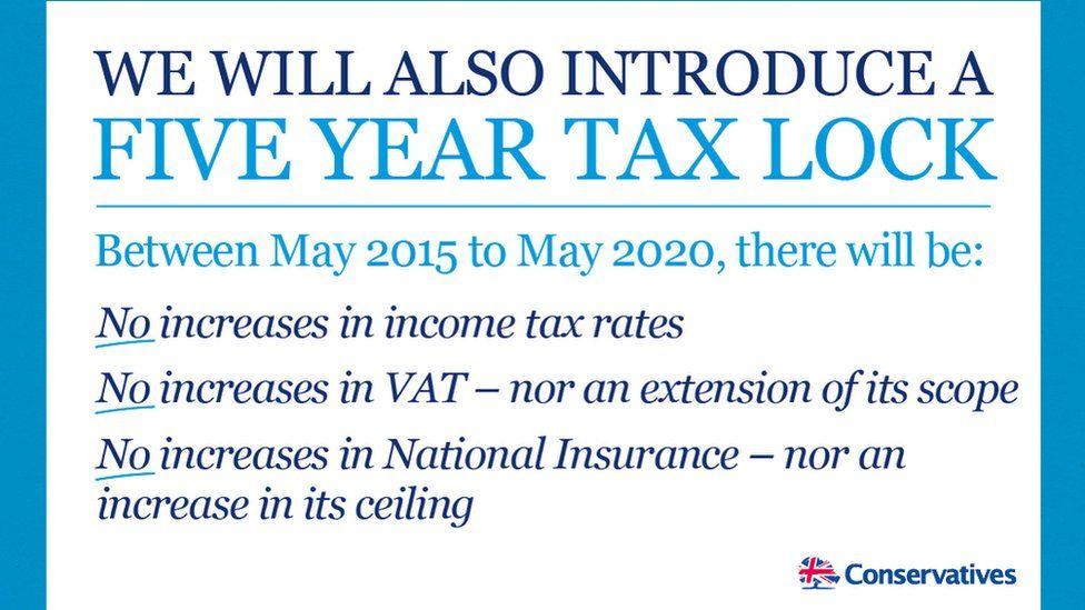 Tory tax pledge published by the Conservative party in 2015