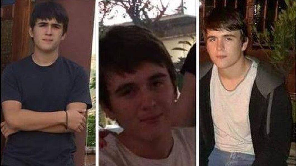 Three photos of the suspect