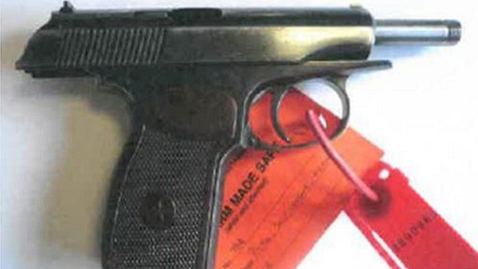 Pistol found at Remmay Williams hosue