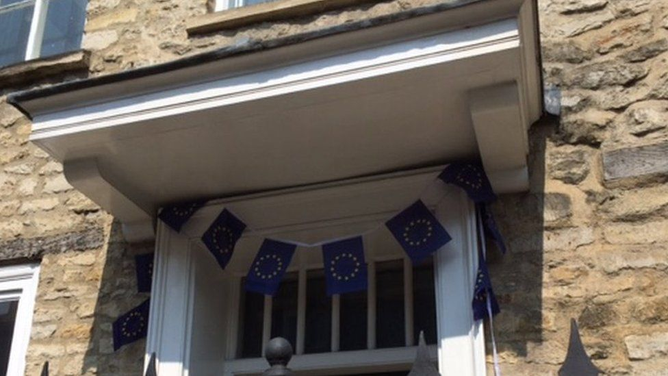 The Flag of Europe in Witney